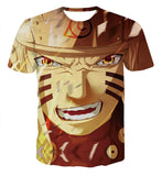 Pizoff Unisex Naruto Cartoon Print T-shirt Top AL002-01-