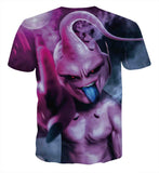 Pizoff Unisex 3D Dragon Ball Cartoon Print T-shirt Top AL002-05