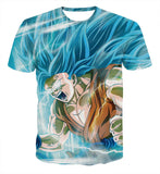Pizoff Unisex 3D Dragon Ball Cartoon Print T-shirt Top AL002-06