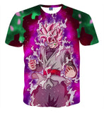 Pizoff Unisex 3D Dragon Ball Cartoon Print T-shirt Top AL002-10