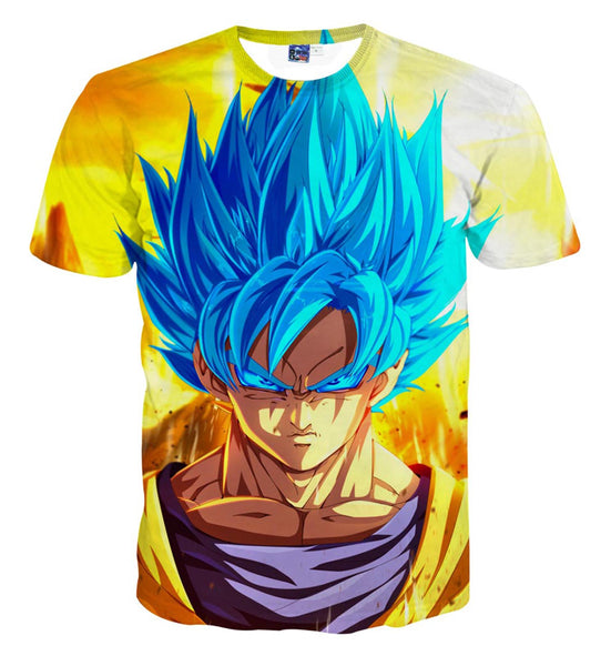 Pizoff Unisex 3D Dragon Ball Cartoon Print T-shirt Top AL002-11