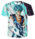 Pizoff Unisex 3D Dragon Ball Cartoon Print T-shirt Top AL002-12