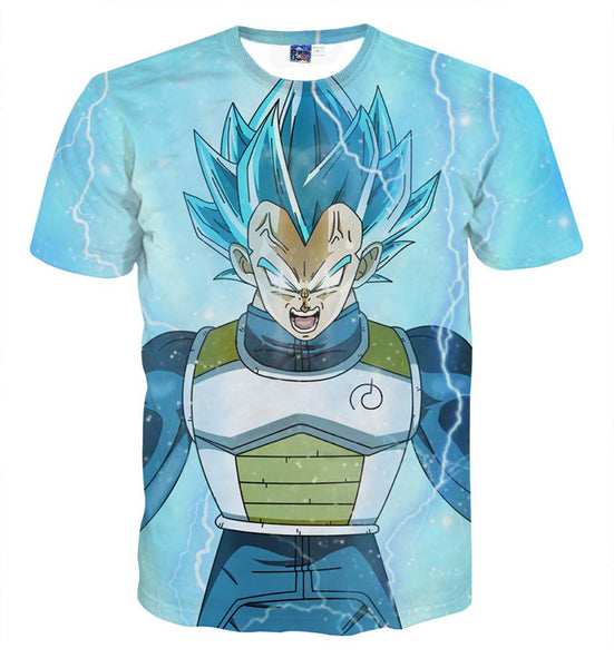 Pizoff Unisex 3D Dragon Ball Cartoon Print T-shirt Top AL002-13