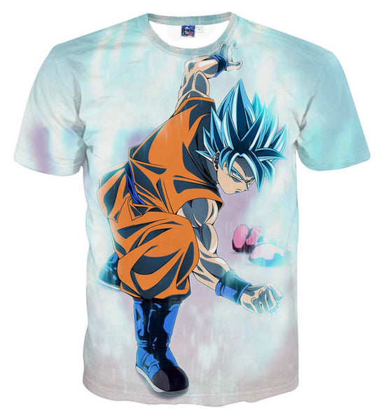 Pizoff Unisex 3D Dragon Ball Cartoon Print T-shirt Top AL002-15