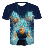Pizoff Unisex 3D Dragon Ball Cartoon Print T-shirt Top AL002-19