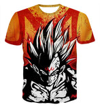 Pizoff Unisex 3D Dragon Ball Cartoon Print T-shirt Top AL002-21