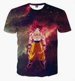 Pizoff Unisex 3D Dragon Ball Cartoon Print T-shirt Top AL002-28