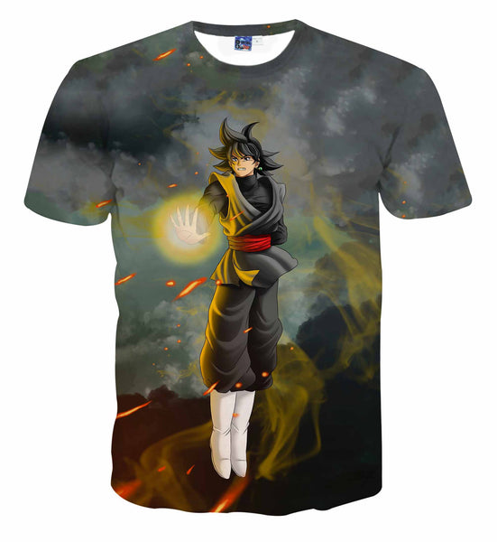 Pizoff Unisex 3D Dragon Ball Cartoon Print T-shirt Top AL002-38