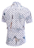 Pizoff Men's Short Sleeve Luxury Print Dress Shirt AL003-19