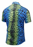 Pizoff Men's Short Sleeve Luxury Print Dress Shirt AL003-28