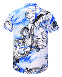 Pizoff Men's Short Sleeve Luxury Print Dress Shirt AL003-57