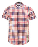 Pizoff Men's Short Sleeve Luxury Print Dress Shirt AL003-60