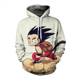Pizoff Unisex Dragon Ball Print Hoodie Long Sleeve Pullover Sweatshirt With Pockets AL004-01