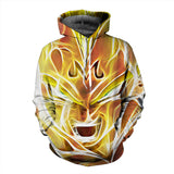 Pizoff Unisex Dragon Ball Print Hoodie Long Sleeve Pullover Sweatshirt With Pockets AL004-03