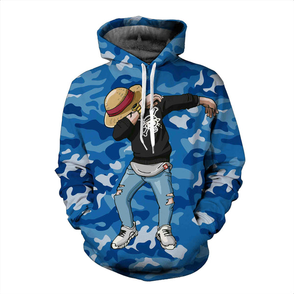 Pizoff Unisex Dragon Ball Print Hoodie Long Sleeve Pullover Sweatshirt With Pockets AL004-04