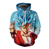 Pizoff Unisex Dragon Ball Print Hoodie Long Sleeve Pullover Sweatshirt With Pockets AL004-05