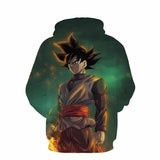 Pizoff Unisex Dragon Ball Print Hoodie Long Sleeve Pullover Sweatshirt With Pockets AL004-06
