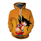 Pizoff Unisex Dragon Ball Print Hoodie Long Sleeve Pullover Sweatshirt With Pockets AL004-08
