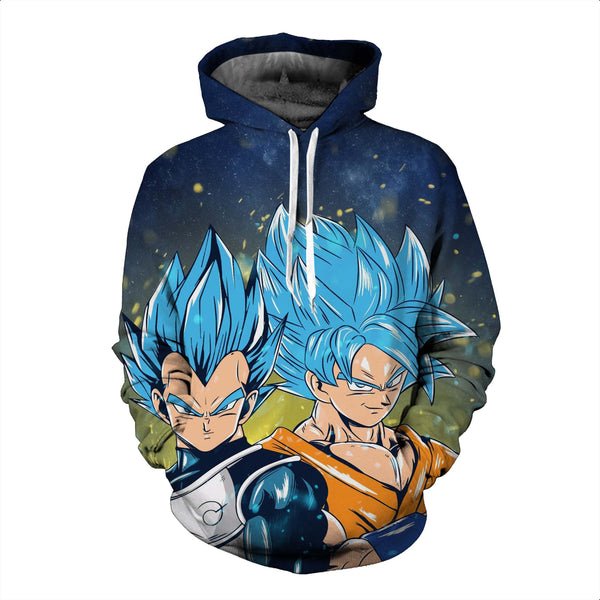 Pizoff Unisex Dragon Ball Print Hoodie Long Sleeve Pullover Sweatshirt With Pockets AL004-09