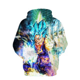 Pizoff Unisex Dragon Ball Print Hoodie Long Sleeve Pullover Sweatshirt With Pockets AL004-14