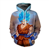 Pizoff Unisex Dragon Ball Print Hoodie Long Sleeve Pullover Sweatshirt With Pockets AL004-17