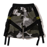 Pizoff Street Style Hip-hop Hipster Casual Sports Camo&Black Shorts Pants AL026-559