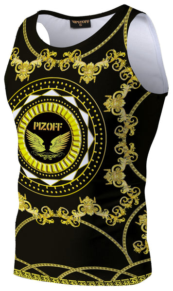 Pizoff Unisex 3D Print Work Out Compression Muscle Tank Top AL083-10