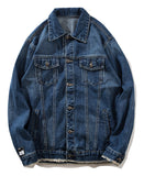 Pizoff Mens Hipster Pop-up Washed Denim Retro Distress Jacket AL181