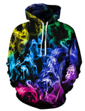 PIZOFF Unisex Colorful Smoke Hoodie 3D Print Pullover Sweatshirts AM110-19