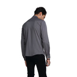 PIZOFF Mens Long Sleeve Extra Long Design Dress Gray Shirt B404