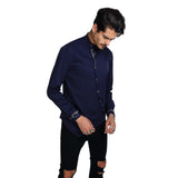 PIZOFF Mens Long Sleeve Extra Long Design Dress Navy Shirt B404