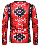 Pizoff Unisex Hipster Long Sleeve 3D Print Cardigan Top Shirts B666-37