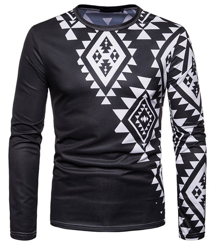 Pizoff Unisex Hipster Long Sleeve 3D Print Cardigan Top Shirts B666-44