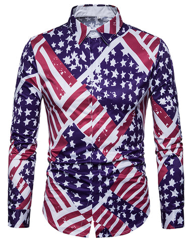 Pizoff Mens Long Sleeve Luxury Print Dress Shirt B702-31