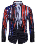 Pizoff Mens Long Sleeve Luxury Print Dress Shirt B702-32