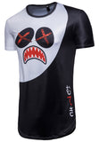Pizoff Mens Hipster Hip Hop Crazy Shark Crewneck Long T-Shirt BA0001