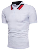 Pizoff Summer Men's short sleeved T-shirt Collar Shirt Polo Shirt Clothes BA0012