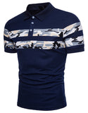 Pizoff Summer Men's short sleeved T-shirt Collar Shirt Polo Shirt Clothes BA0013