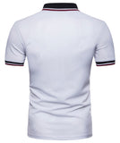 Pizoff Summer Men's short sleeved T-shirt Collar Shirt Polo Shirt Clothes BA0014