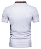 Pizoff Summer Men's short sleeved T-shirt Polo Shirt Printing Tees BA0017