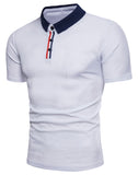 Pizoff Summer Men's short sleeved T-shirt Collar Shirt Polo Shirt Clothes BA0019
