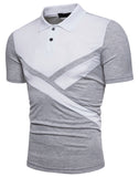 Pizoff Summer Men's short sleeved T-shirt Polo Shirt Printing Tees BA0022