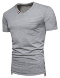 Pizoff Summer Men's short sleeved T-shirt Polo Shirt Printing Tees BA0028
