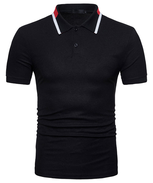 Pizoff Summer Men's short sleeved T-shirt Polo Shirt Printing Tees BA0031