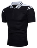 Pizoff Summer Men's short sleeved T-shirt Polo Shirt Printing Tees BA0033