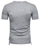 Pizoff Summer Men's short sleeved T-shirt Polo Shirt Printing Tees BA0034