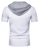 Pizoff Summer Men's short sleeved T-shirt Short Sleeve with Cap  BA0037