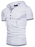 Pizoff Summer Men's short sleeved T-shirt Short Sleeve with Cap  BA0041