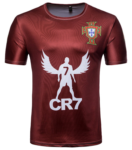 Pizoff 2018 FIFA World Cup Hipster Portugal 3D Print T-Shirt Originality BA0043-15
