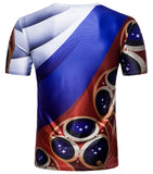 Pizoff 2018 FIFA World Cup Hipster Russia 3D Print T-Shirt Originality BA0043-18